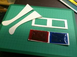 厚紙3Dメガネの材料