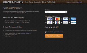 Minecraft Payment Methods