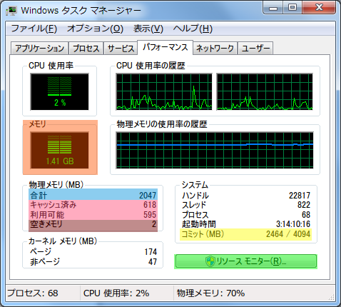 Windows 7 Task Manager Window